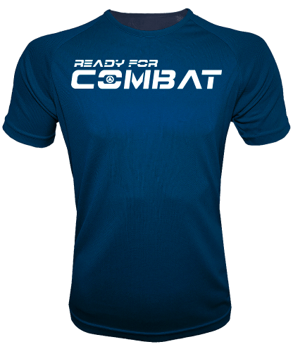 CAMISETA DEPORTIVA AZUL MARINO READY FOR COMBAT