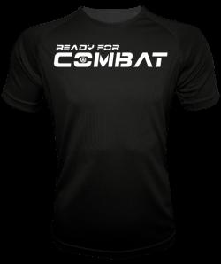 camiseta deportiva negra de hombre reday for combat