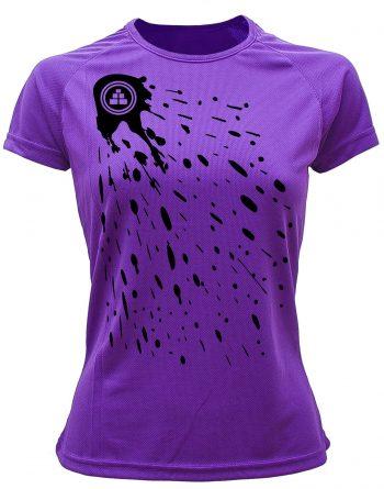 Camiseta deportiva Mujer pintura Violeta