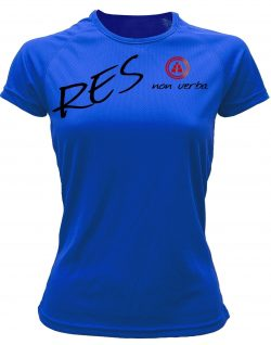 Camiseta fitness mujer res non verba color azul royal