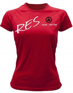 Camiseta fitness mujer res non verba color rojo