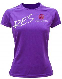 Camiseta fitness mujer res non verba color Violeta