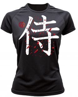 Camiseta running samurai color negro