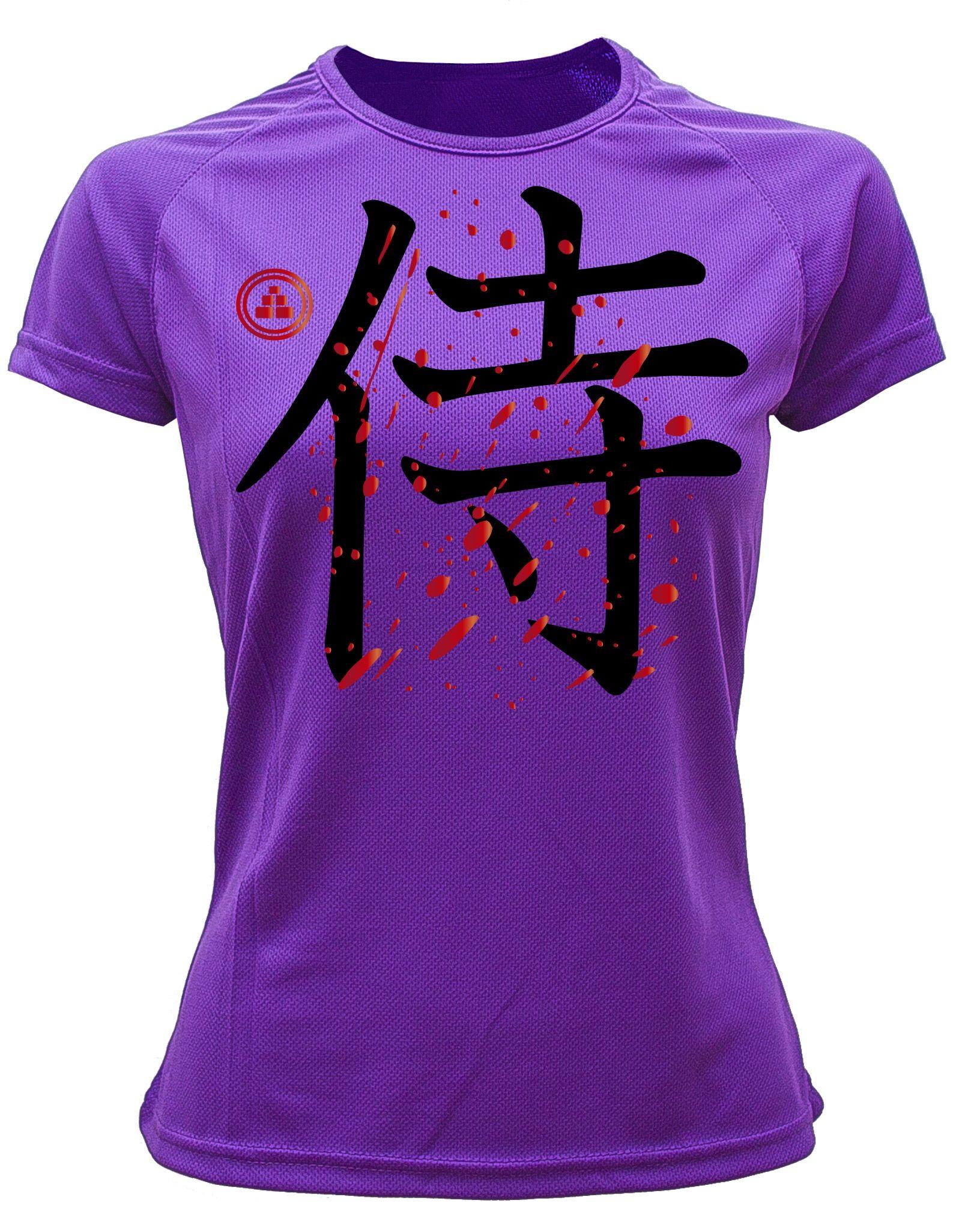 Camiseta running samurai Violeta