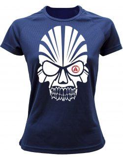 Camiseta deportiva Mujer calavera Azul Marino