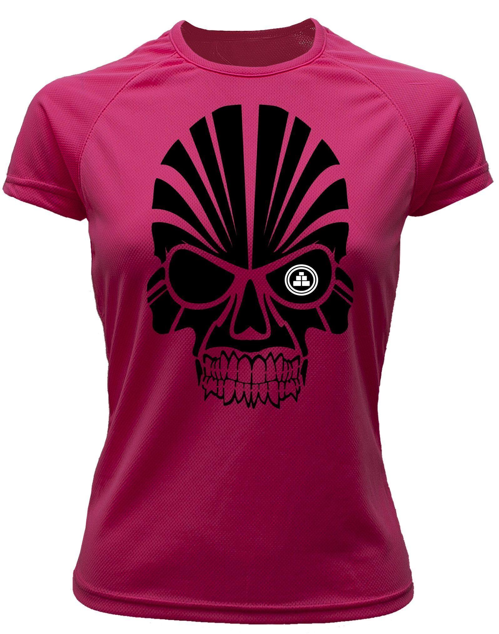 Camiseta deportiva Mujer calavera Rosa