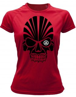 Camiseta deportiva Mujer calavera Roja