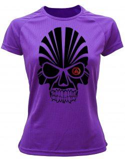 Camiseta deportiva Mujer calavera Violeta