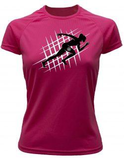 Camiseta de deporte running rosa