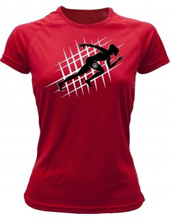 Camiseta de deporte running color rojo