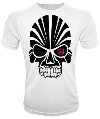 Camiseta deportiva calavera blanca