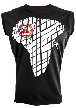 Camiseta deportiva sin mangas diseño montaña