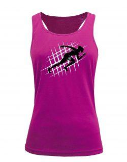 Camiseta fitness de tirantes running Rosa
