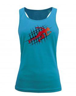 Camiseta fitness de tirantes running Aqua
