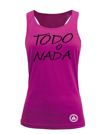 Camiseta fitness de tirantes TODO O NADA color Rosa