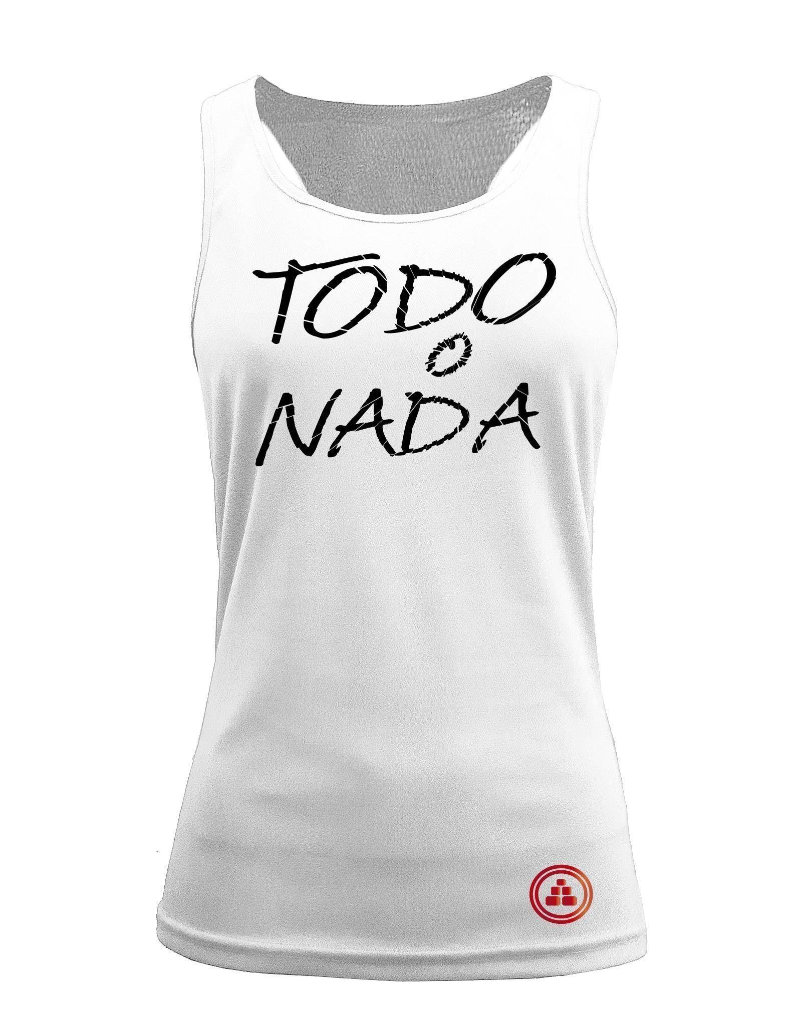 Camiseta fitness de tirantes TODO O NADA color Blanco