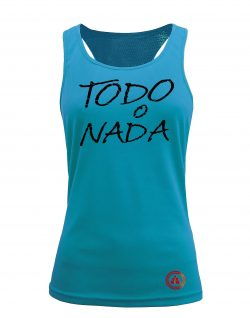 Camiseta fitness de tirantes AQUA color amarillo