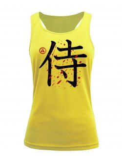 Camiseta fitness de tirantes samurai color amarillo
