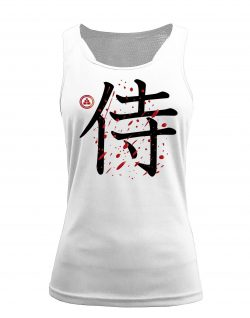 Camiseta fitness de tirantes samurai color blanco