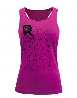 Camiseta fitness de tirantes Pintura Rosa