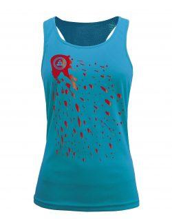 Camiseta fitness de tirantes Pintura Aqua