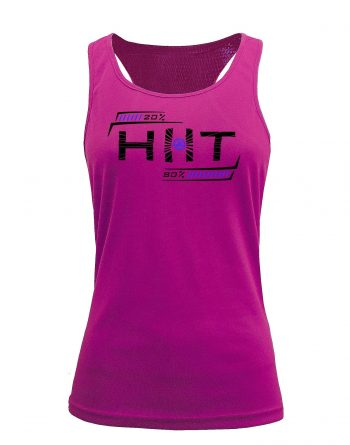 Camiseta fitness de tirantes Entrenamiento HIIT Rosa