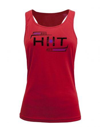 Camiseta fitness de tirantes Entrenamiento HIIT Roja