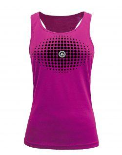 Camiseta fitness de tirantes degradado Rosa