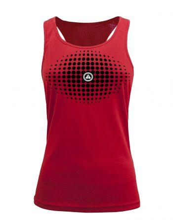 Camiseta fitness de tirantes degradado Roja