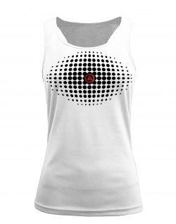 Camiseta fitness de tirantes degradado blanca