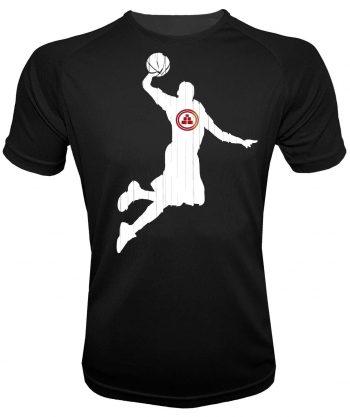 Camiseta deportiva básquet negra