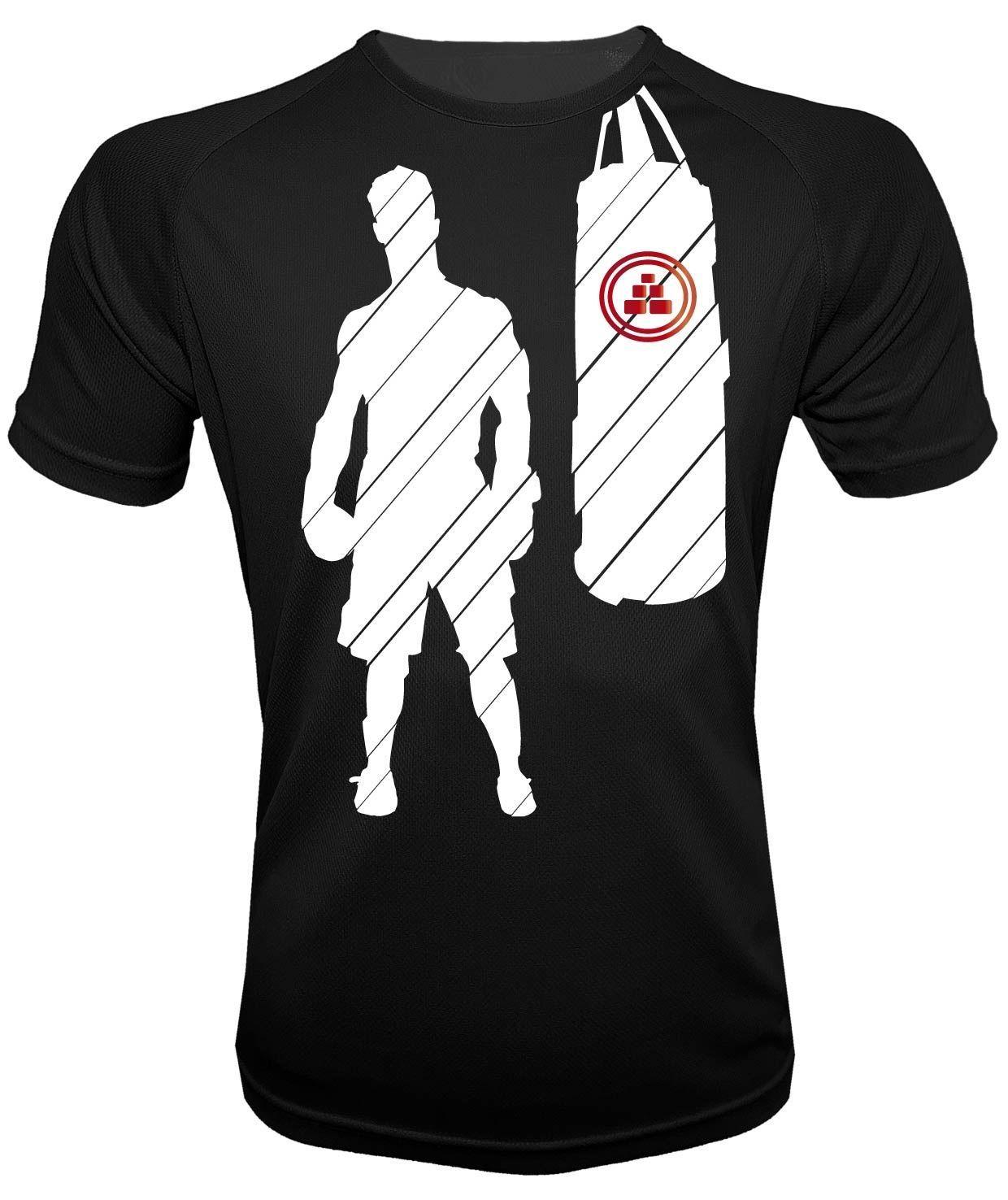 Camiseta de deporte boxeo con mangas