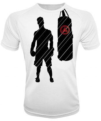 Camiseta de deporte de boxeo blanca