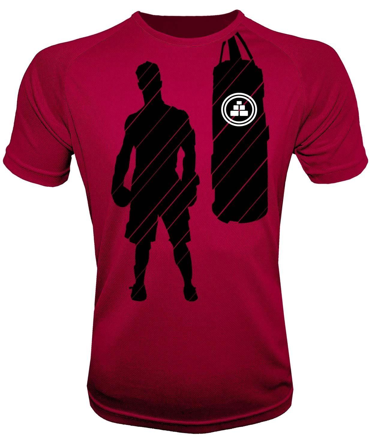 Camiseta de deporte boxeo roja