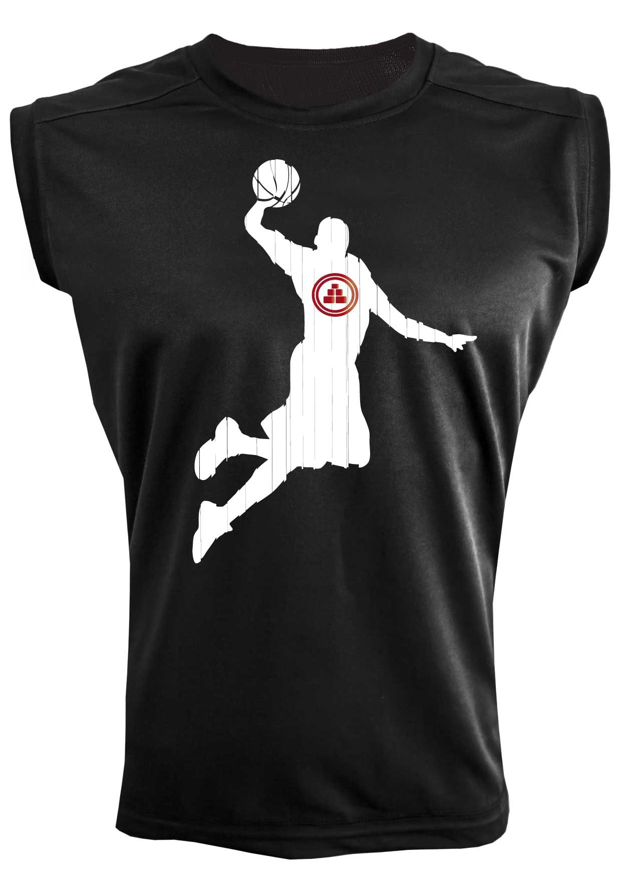 Camiseta sin mangas diseño baloncesto