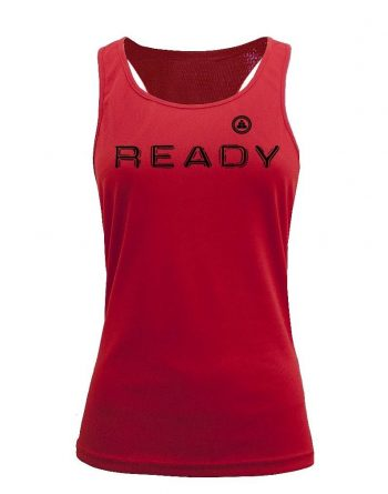 Camiseta fitness de tirantes ready roja