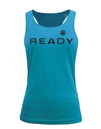Camiseta fitness de tirantes ready aqua