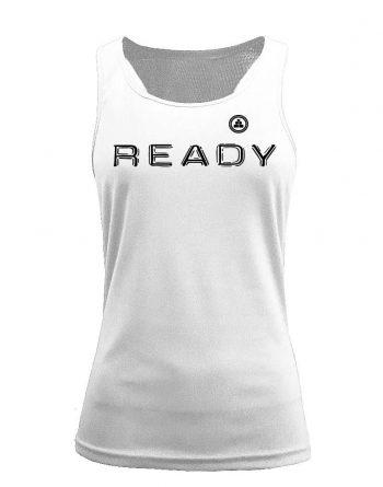 Camiseta fitness de tirantes ready blanca