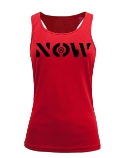Camiseta fitness de tirantes NOW Roja