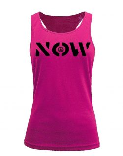 Camiseta fitness de tirantes NOW Rosa