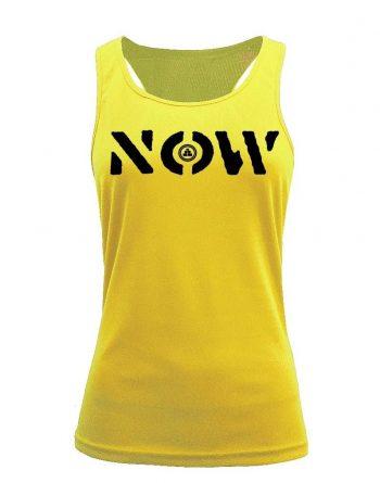 Camiseta fitness de tirantes NOW Amarilla