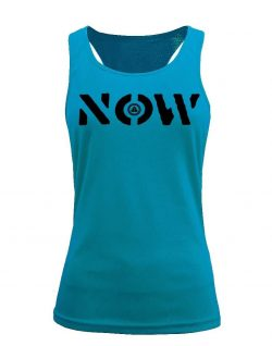 Camiseta fitness de tirantes NOW Aqua