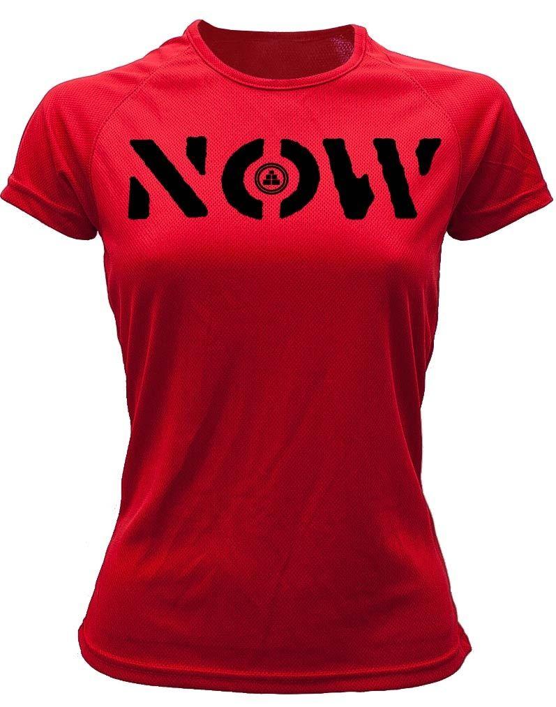 Camiseta deportiva Mujer NOW Roja