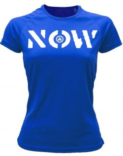 Camiseta deportiva Mujer NOW Azul Royal