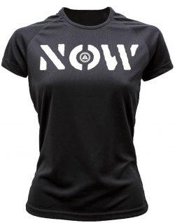 Camiseta deportiva Mujer NOW Negra