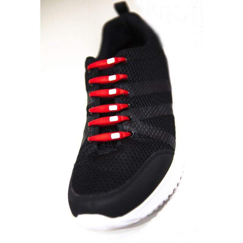 Cordones elásticos rojos para zapatillas