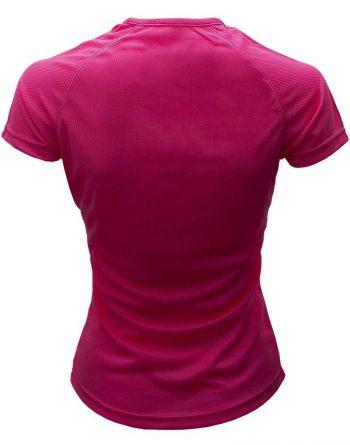 Camiseta Deportiva mujer Rosa detrás es
