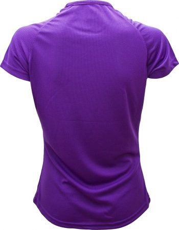 Camiseta Deportiva mujer violeta detrás es