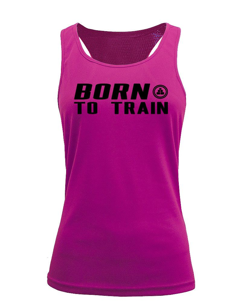 CAMISETA DEPORTIVA DE TIRANTES DE MUJER BORN TO TRAIN M RS