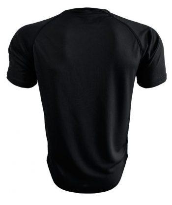 Camiseta Deportiva Negra detrás es